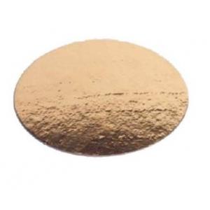Подложка пищевая для торта круглая 260мм картон золото