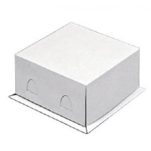 Коробка для тортов 280х280х140мм картон белый