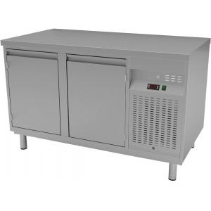 Стол холодильный, GN1/1, L1.34м, без борта, 2 двери глухие, ножки, 0/+8С, нерж.сталь, агрегат справа