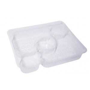 Пластиковый поднос для Nacho на три соуса, прозрачный бесцветный пластик