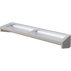 Полка настенная для тарелок, 1220х322х215мм, 1 уровень решетчатый, открытая, оцинк.сталь, 38тарелок