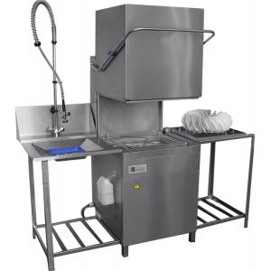Машина посудомоечная купольная,  530х325мм, 720тар/ч, доз.опол.+моющ., моющий насос, дренажный насос, столы загрузки и выгрузки, душ