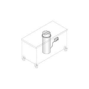 Диспенсер для тарелок подогреваемый, 1 цилиндр 50-60шт. (D190/260мм), встраиваемый, крышка, серия GISELF Elite