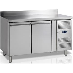 Стол холодильный, GN1/1, L1.36м, борт H100мм, 2 двери глухие, ножки, -2/+10С, нерж.сталь, дин.охл., агрегат справа, R600a