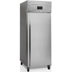Шкаф холодильный, GN2/1,  650л, 1 дверь глухая, 3 полки, колеса, -2/+10С, дин.охл., нерж.сталь, R290a