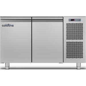 Стол холодильный, L1.30м, без столешницы, 2 двери глухие, ножки, -2/+8С, нерж.сталь, дин.охл., агрегат справа, Master 600