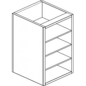 Модуль барный нейтральный для посудомоечных корзин,  620х555х830мм, без столешницы, полузакрытый без двери, нерж.сталь
