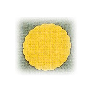 Салфетка настольная D 8см желтая (20шт)