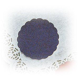 Салфетка настольная D 8см синяя (20шт)