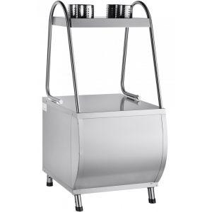 Прилавок для столовых приборов и подносов, L0.63м, нерж.сталь