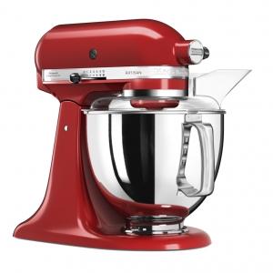Миксер планетарный бытовой, дежа 4.83л, 4 насадки, 2 чаши, красный