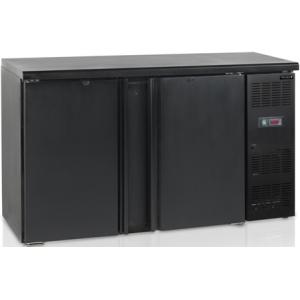 Стол холодильный для напитков, 290л, 2 двери глухие распашные, 4 полки, ножки, +2/+10С, чёрный, дин.охл., R290a