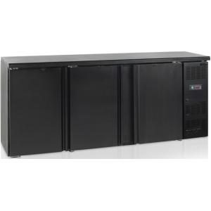 Стол холодильный для напитков, 460л, 3 двери глухие распашные, 6 полок, ножки, +2/+10С, чёрный, дин.охл., R290a