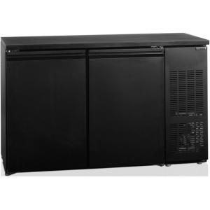 Стол холодильный для кег, L1.35м, без борта, 2 двери глухие, ножки, +2/+10С, чёрный, дин.охл., агрегат правый, 8 кег по 20л, R600a