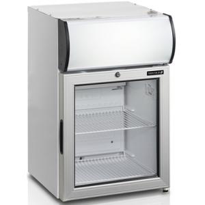 Шкаф холодильный для напитков (минибар),  60л, 1 дверь стекло, 2 полки, ножки, +2/+10С, стат.охл.+вент., белый, канапе, R600a