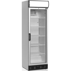 Шкаф холодильный для напитков, 372л, 1 дверь стекло, 5 полок, ножки+колеса, +2/+10С, стат.охл.+вент., белый, канапе, R600a
