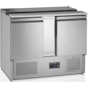 Стол холодильный саладетта, GN1/1, L1.05м, без борта, 2 двери глухие, +2/+10С, нерж.сталь, стат.охл.+вент., агрегат нижний, гнездо 3GN1/1, раз.доска,