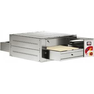 Печь для пиццы электрическая, конвейерная, 1 камера 530х800х110мм, электромех.упр., нерж.сталь, лента шириной 450мм с каменными блоками, сенс.дисплей
