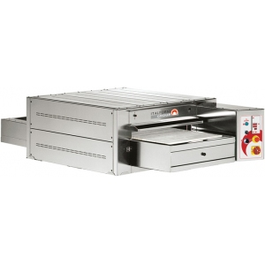 Печь для пиццы электрическая, конвейерная, 1 камера 670х1140х110мм, электромех.упр., нерж.сталь, лента шириной 590мм с каменными блоками