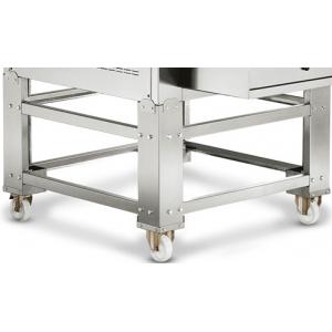 Подставка для печи для пиццы конвейерной TSA,  990х810х560мм, открытая, обвязка с 4-х сторон, нерж.сталь, передвижная, 2 модуля
