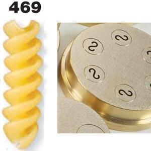 Матрица тефлоновая для пресса для макаронных изделий P6, P12, D89мм, fusilli 2 principi (спиральки двойные), 10мм