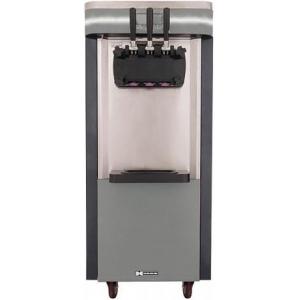 Фризер для мягкого мороженого, 3 разд.узла, 18-20л/ч, напольный, 2 бункера, 3 вкуса, ночное хранение
