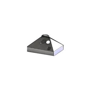 Крышка барбекю для мангала на угле Изо-Профигриль, L0.47м, нерж.сталь, термометр