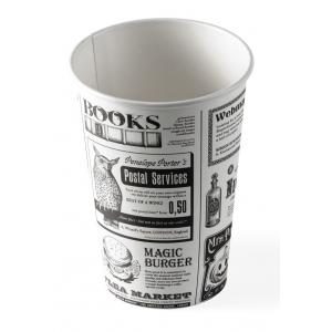 Стакан бумажный для горячих напитков Magic News 300мл белый