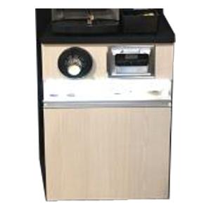 Модуль барный нейтральный для кофемашины,  600х725х914мм, без борта, диспенсер для стаканов, лючок для мусора, мусорник, ЛДСП, стол.камень