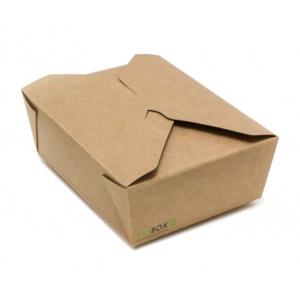 Коробка универсальная 1200мл бумага крафт двухсторонний биоразлагаемая