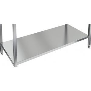 Полка сплошная для стола производственного, 1500х700мм, нерж.сталь