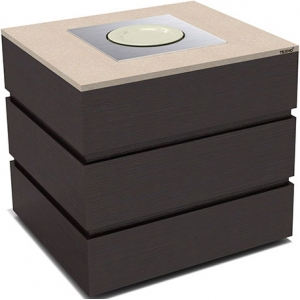 Диспенсер для тарелок подогреваемый, L0.97м, 1 цилиндр 45шт., передвижной, цвет венге