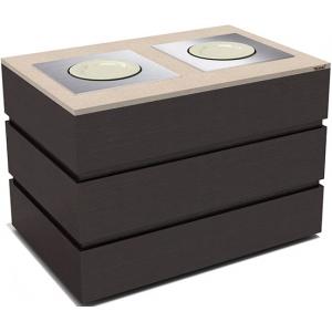 Диспенсер для тарелок нейтральный, L1.29м, 2 цилиндра 45шт., передвижной, цвет венге