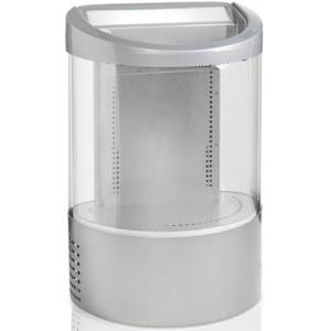 Ларь холодильный импульсных продаж, 110л, без крышки, +2/+12С, корпус серый, дин.охл., R600a, цилиндрический, 7 ножек