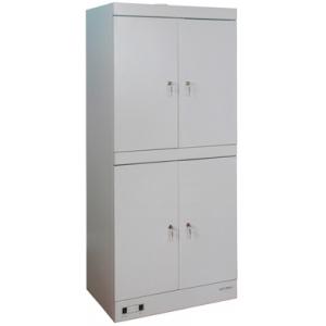 Шкаф тепловой сушильный для одежды,  800х510х1810мм, 4 двери распашные, 4 полки решетчатые, 4 замка, +40/+60С, краш.сталь RAL7035