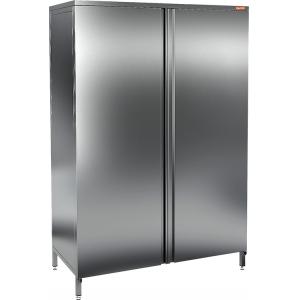 Шкаф кухонный, 1200х600х1800мм, 2 двери распашные, 4 полки сплошные, нерж.сталь 304, разборный
