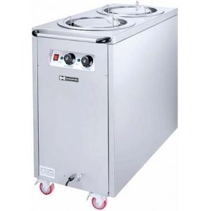 Диспенсер для тарелок подогреваемый, L0.45м, 2 цилиндра 75шт. (D300мм), передвижной, стенд закрытый, нерж.сталь