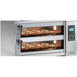 Печь для хлеба электрическая подовая, 2 камеры  605х505х125мм, электронное управление, дверь стекло, под камень, пароувлажнение, нерж.сталь
