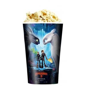 V 46 Стакан для попкорна «Как приручить дракона 3»