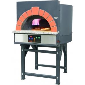 Печь для пиццы газовая, подовая, 1 камера,  8 пицц D300мм, корпус огнеупорный материал, под камень, стенд откр.краш., горелка «пламя» справа, прир.газ