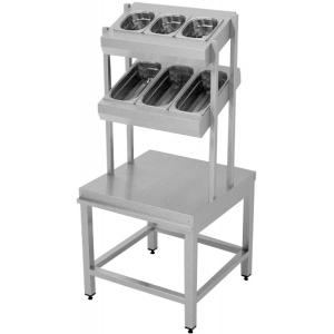 Диспенсер для столовых приборов, хлеба и подносов, L0.62м, 3GN1/6+2GN1/2