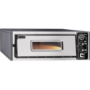 Печь для пиццы электрическая, подовая, 1 камера  700х700х150мм, 4 пиццы D350мм, электромех.управление, дверь стекло, под камень