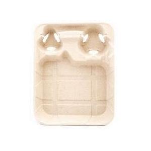 Поднос с держателями для стаканов M 33см W 26,6см h 4,7см бумага крафт