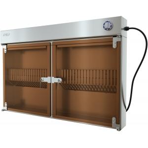 Стерилизатор ножей ультрафиолетовый, вместимость 36шт., настенный, 2 двери стекло, решетка, планка магнитная