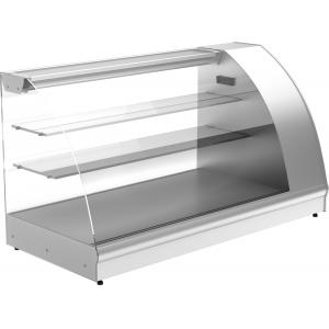 Витрина холодильная настольная, горизонтальная, L1.26м, 2 полки, +6/+12С, дин.охл., нерж. сталь