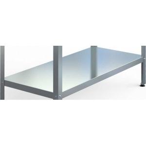 Полка сплошная для стола производственного СПП/СПС, 1500х600мм, нерж.430