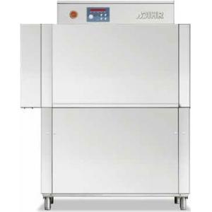 Машина посудомоечная конвейерная, 500х500мм,  70-100кор/ч, реверсивная, левая, гор.вода, доз.опол.+моющ., защита от брызг
