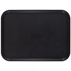 Поднос L 56см w 40,5см прямоугольный, стеклопластик с шероховатой резиновой поверхностью,черный