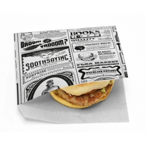 Уголок для гамбургера Мagic News 140х140мм бумага белый