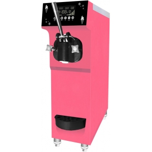 Фризер для мягкого мороженого настольный, 1 узел раздаточный, 12л/ч, розовый, предварит.охл., КОМПРЕССОР EMBRACO ASPERA!!!
